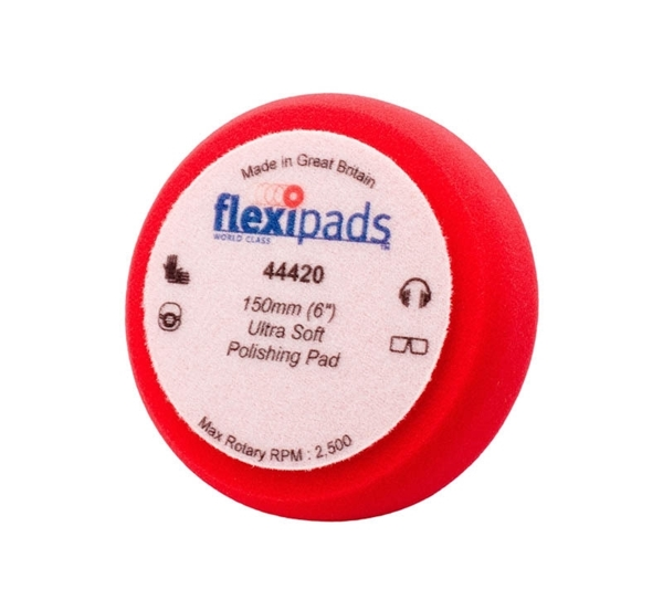 Picture of Red Soft Foam Pad  - 150mm / 6""