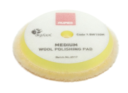 Picture of Wool Medium Polishing Pad 130/145mm Rupes